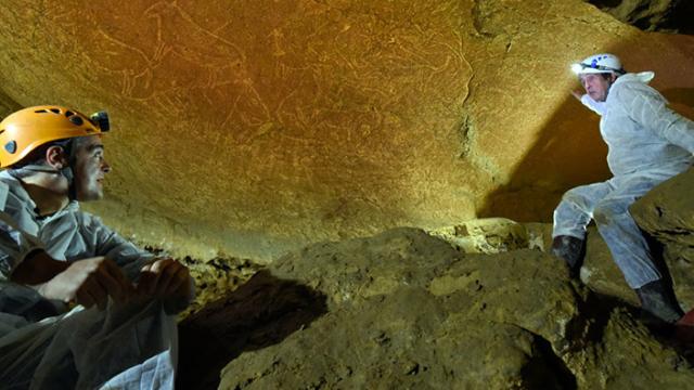 İspanya'da 14 bin yıllık hayvan resimleri bulundu